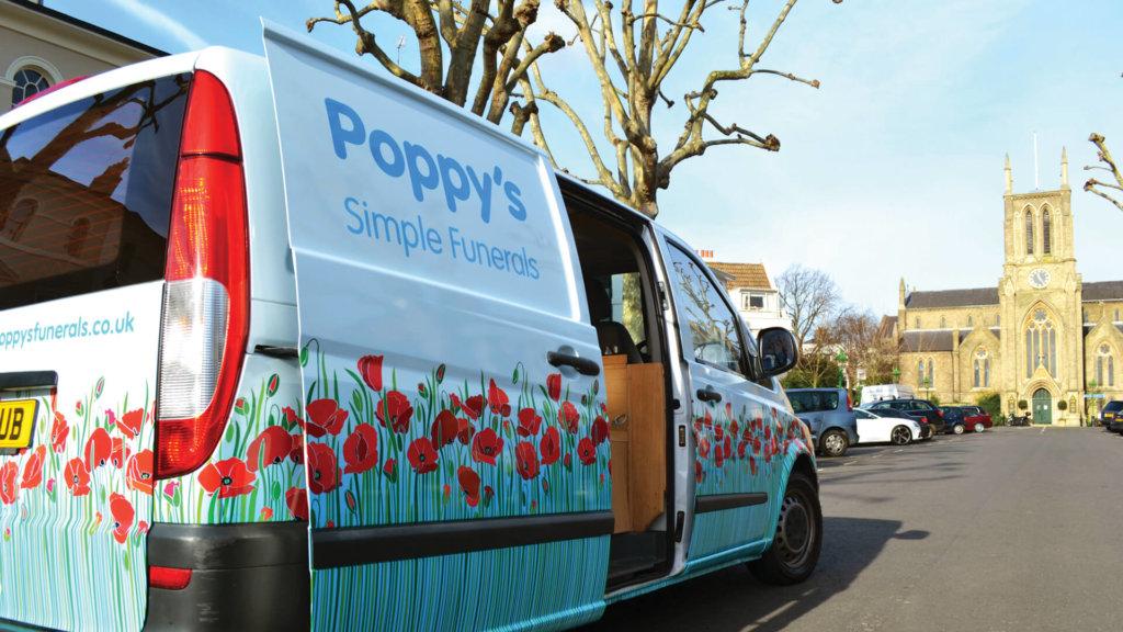 Poppy's Funerals Van