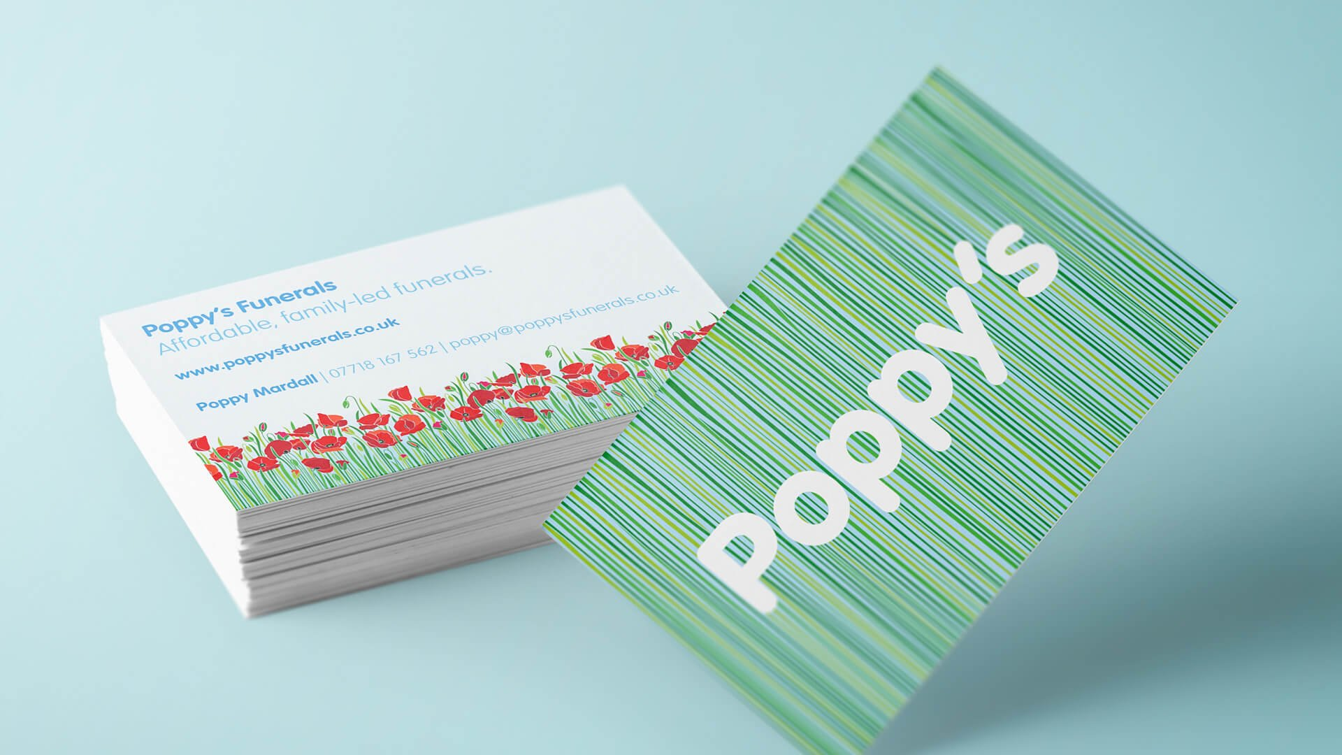Poppy's Funerals Business Cards